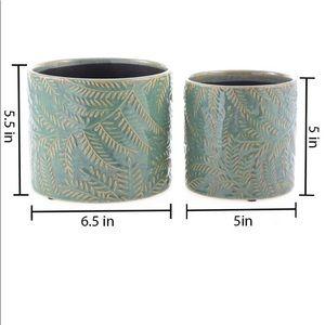 Ceramic Planters Garden Flower Pot 6.5➕5.5 Inch